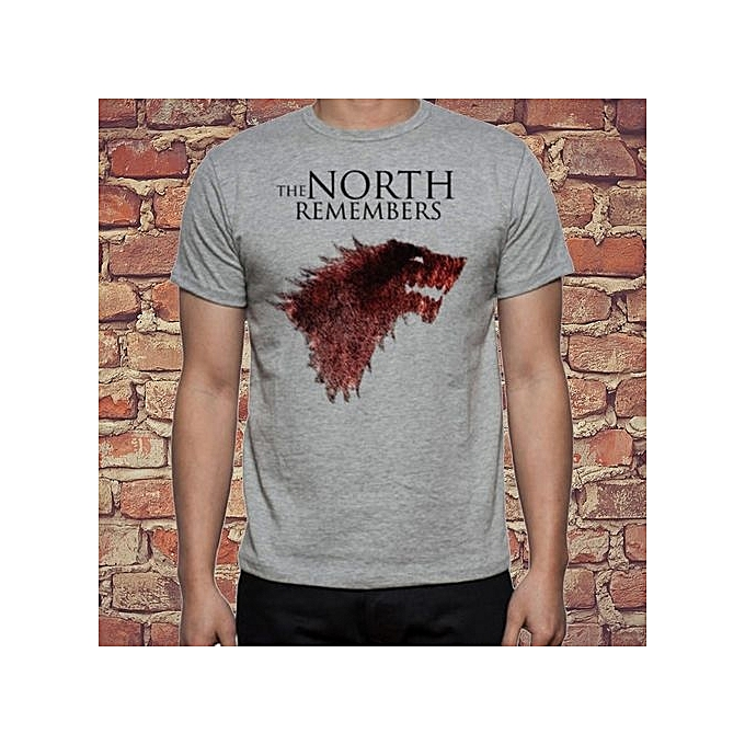 97e6b8d9e Youth Game Of Thrones Direwolf Wolf The North Remembers Stark Logo Simple  Graphic Design Shirt Summer