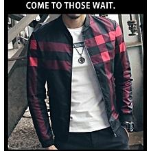 Men's New Hot Sale: New Fashion Brand Jacket Men Trend Korean Slim Fit Mens Designer Clothes Men Casual Jacket-black