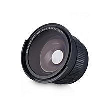 52MM 0.35X Lens Fisheye Wide Angle For Nikon DSLR Cameras - Black