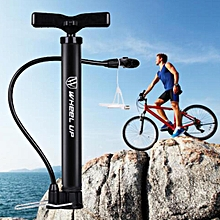 Portable Bike Bicycle Cycling Air Pump Hand Ball Inflator Wheel Up High Pressure