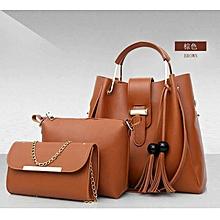 Brown  3 in 1 ladies Handbag
