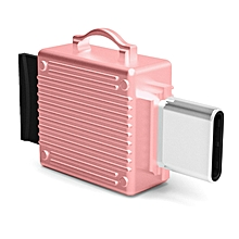 Q24 2 in 1 Toolbox shape Type-C Metal Memory Card Reader, Support TF Card(Rose Gold)