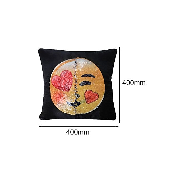 Buy Generic Cute Changing Face Emoji Decorative Pillows Sequin Interesting Cute Decorative Pillows For Cheap