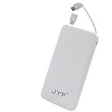JYF-C1, 12000mAh, Super Slim Powerbank - White