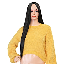 Female Long Straight Synthetic Wig - Natural Black