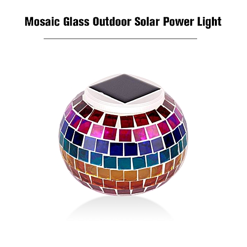 Mosaic Glass Outdoor Solar Power Light Color Changing Lawn Ball Lantern Led Light Yard Garden Holiday Decoration Lighting Lamps Access Control Kits Access Control