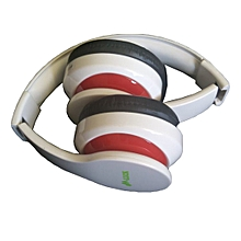 Headphones - Bluetooth/FM/SD WHITE