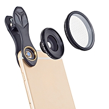 Apexel APL-25MM 25mm 20X Super Macro Lens with Star Filter for Mobile Phone Tablet Photography