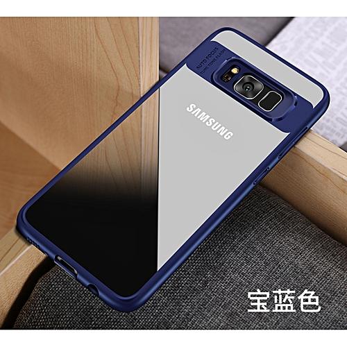 best sneakers 0286d b484c Hawkeye Slim Anti Slip Soft TPU + Crystal Clear Acrylic PC Transparent Back  Cover Case For Samsung Galaxy Galaxy J5 Prime / On 5 166417 (Blue)