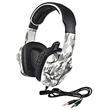 3.5mm Gaming Headphone w/ Mic Noise Cancellation Music Headset Black-blue Upgraded Version of SA-708 for PS4 Tablet PC Mobile Phones