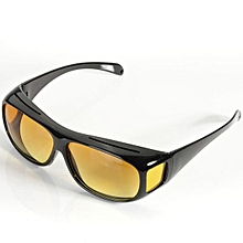 HD Lenses Unisex Sunglasses UV Protection Night Vision Driving Glasses Yellow
