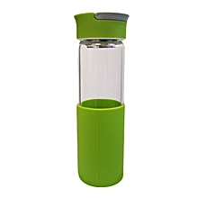 Glass Water Bottle - 550ml - Luminous Green