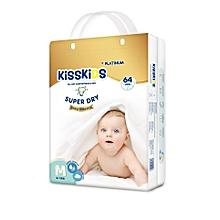 Kiss Kids Platinum Diapers Size Medium (6-11 Kg) - 64 Pcs