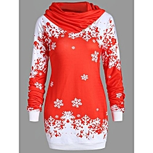 Plus Size One Shoulder Christmas Snowflake Sweatshirt