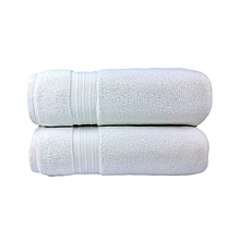For Her & For Him Couples Bath Towel Set of 2 - 100% Premium Cotton .