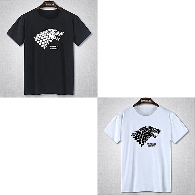 35e3ab14b248 Generic 2Pcs Set Game Of Thrones Men's T-Shirt Black And White ...