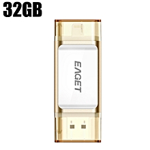 EAGET I60 32GB USB 3.0 OTG Flash Drive with Connector CHAMPAGNE 32GB