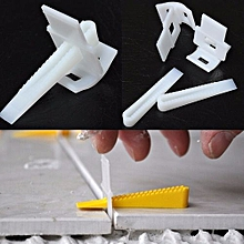 100 Tile Leveling Spacer System Construction Tool Spacer-Flooring Level-Lippage Clip&Wedge