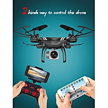 Professional Wide Angle Drone HD Camera RC Drone WiFi FPV Live Helicopter Hover Quadcopter -black