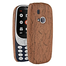 Grandcase Explosion, [wood Texture] PU Leather + Hard PC Protective Case Cover for Huawei Nokia 3310 2017