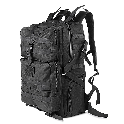 Generic 45L Military Tactical Backpack Bag for Climbing - Black ... c55318c1f82