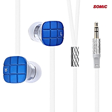 L1 3.5mm Jack Bass HiFi In-ear Earphones With 9mm Moving Coil Unit(BLUE)