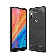 Brushed Texture Carbon Fiber Shockproof TPU for Xiaomi Mi Mix 2S(Black)