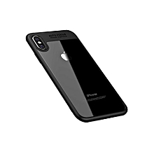 Protective Anti-Knock Soft Case Cover For Apple iPhone X Black/Clear
