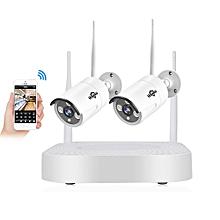 Hiseeu 2CH 960P Wireless CCTV System 1.3 Outdoor IP Camera NVR Recorder Video Security Camera System 2HB612-2 million EU