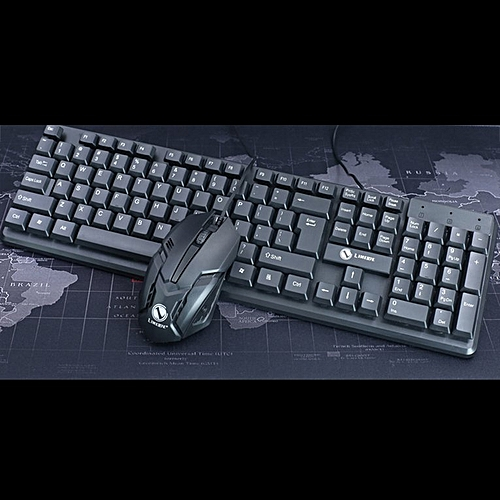 Allwin T13 Wired Mechanism Keyboard Mouse Kit For Game Home