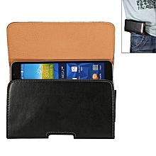 6.3 inch Sheepskin Texture Universal Rotatable Horizontal Style Leather Case with Belt Hole for Galaxy Mega i9208 / i9200 / Mega 2 / i9205(Black)