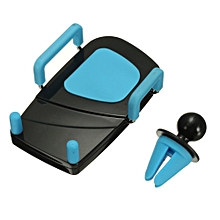 Universal 360° Car Air Vent Holder Mount Stand Clip For Mobile Cell Phone GPS Blue