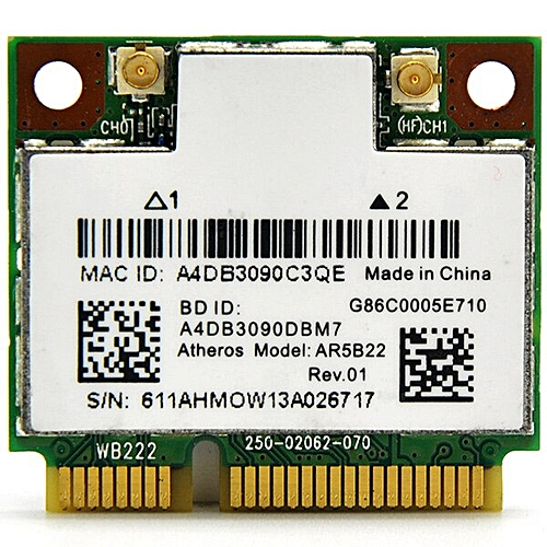 for AR5B22 AR9462 Dual Band 300Mbps Wireless Mini PCI-e WiFi Adapter PCi  Express WLAN Card + Bluetooth 4 0(AR5B22)