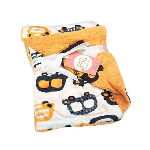 Super Soft Baby Double Layer Receiving Blanket / Shawl  -  Orange