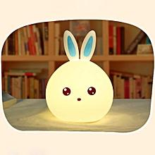 Lovely Rabbit Smile Face Night Light Children Bedroom Decor Mini LED Lamp Bulb