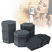 24Pcs Hexagon Acoustic Studio Foam Soundproofing Absorption Treatment Wall Tiles