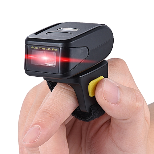 Portable Handheld Bluetooth Wireless Ring Finger 1D Barcode Scanner Reader  Support for windows XP 7 0 8 0 10 system for IOS Android OS for Supermarket