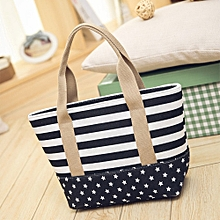 guoaivo Women's Striped Shoulder Bags Capacity Women Canvas Bags Size Small DB