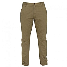 Beige Men's Slim Fit Pants