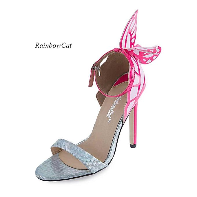 44f8791eee2 Rainbow Sexy Open Toe Ladies High Heel Sandals-SILVER   Best Price ...