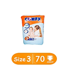 Baby Diapers , Size 3 (Midi) Economy Pack  (Count  70 Diapers)