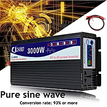 Power Inverter Pure Sine Wave DC12V DC24V to AC220V 3000W-6000W + LCD Display