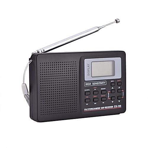FM/AM/SW/LW/TV Sound Full Band Receiver Receiving Radio Alarm Clock Type 1