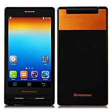 A588T 4-inch (512MB, 4GB ROM) 2250mAh, Android 4.4 Dual SIM Flip Smartphone - Gold