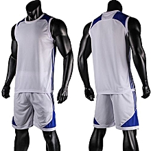 Blank Customized Youth Men's Basketball Team Sports Jersey Uniform-White(6010)
