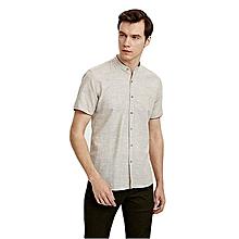 Beige Fashionable Skinny Shirt