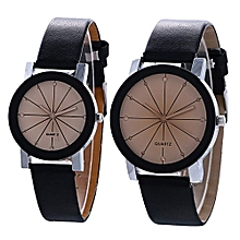 The Best Selection  Luxury Fashion Men Women Casual Leather Band Quartz Analog Wrist Watch