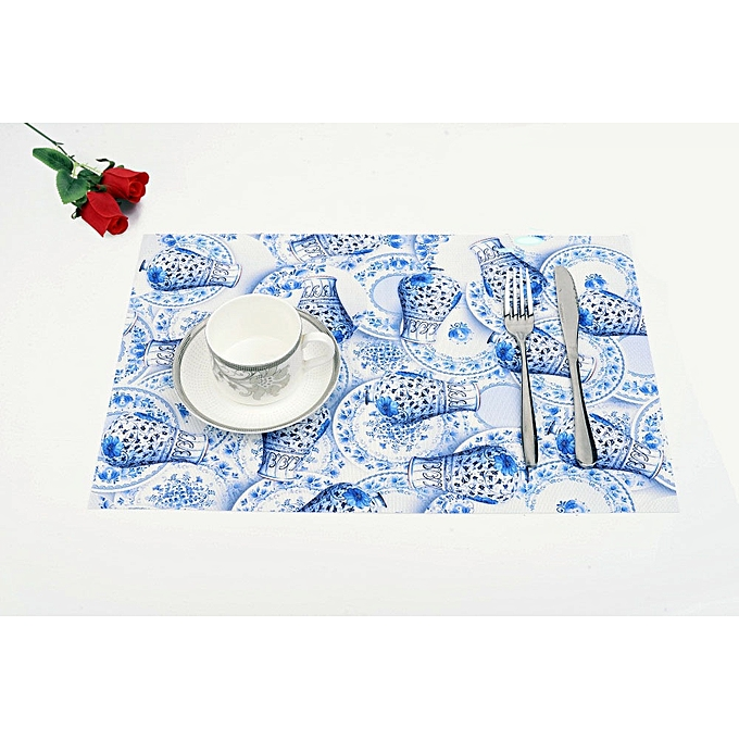 Placemat Table Mat Disc Pads Bowl Pad Coasters Waterproof Cloth Slip Resistant