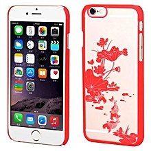 Lotus Pond Moonlight Pattern Case Cover Skin For IPhone 6 4.7 Inch RD-Red
