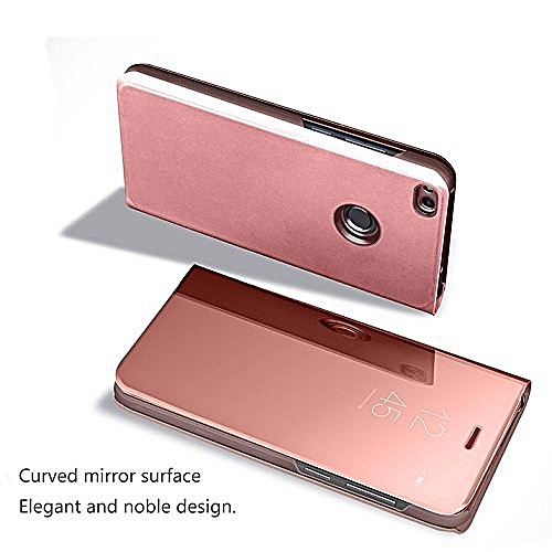 huge selection of b0e23 f1c27 Smart Clear View Flip Cover Mirror Phone Case for Huawei P Smart/Enjoy 7S